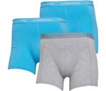 Drei Pack Boxershorts Aquamarine