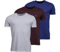 Drei Pack Raul T-Shirt Dunkelburgunderrot