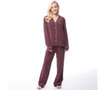 Raven Silk Pyjama Purpur