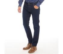 Jeans mit geradem Bein Dunkelblau