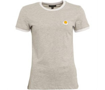 Daisy Embroidered T-Shirt Weiß