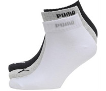 Drei Pack Quarter Socken Grau