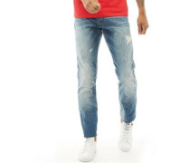 Biker Jeans mit geradem Bein Hell