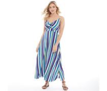 Kate Streifen Maxi Kleid Blau
