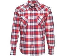 Barstow Western Hemd mit langem Arm Rot