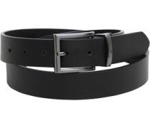 Mens Anton Reversible Belt Black/Black Texture
