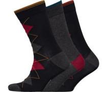 Njinsky Drei Pack Socken Schwarz