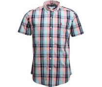 Mens Short Sleeved Check Shirt Beach Grass