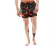 Mens Perth Swim Shorts Khaki/Orange Camo