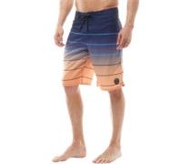 Mens Printed Board Shorts Grey/Orange