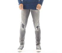 Cirrus Skinny Jeans Verblasstes Denim