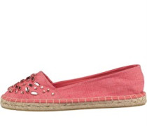 Beaded Washed Espadrille Korallenrosa