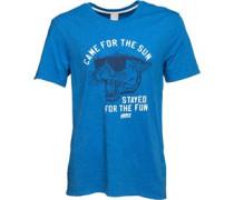 Grafik T-Shirt Blaumeliert