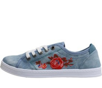 Womens Fiona Canvas Trainer Light Faded Denim