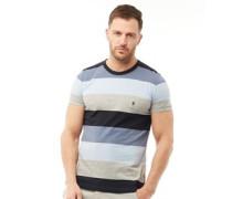 Mit Streifen T-Shirt Navy