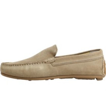 Mens Scene Loafers Suede Taupe