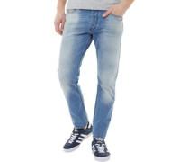 Tepphar 084CU Jeans mit zulaufendem Bein Leicht Steinwasch