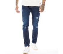 Jogg Jeans in Slim Passform Denimblau