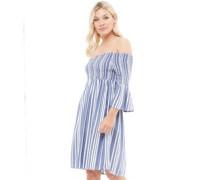 Celeste Kleid Blaumeliert