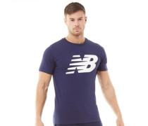 Stacked Logo Grafik T-Shirt Navy