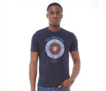 Text Target T-Shirt Dunkelblau