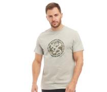 Camo Splat Druck T-Shirt Hellmeliert