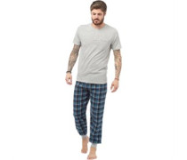 Loungewear-Set Hellgraumeliert