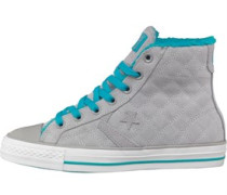 Star Player Hi Fur Sneakers Grau