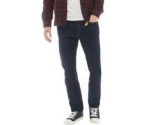 Denim Jeans mit geradem Bein Dunkelindigo