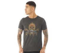 T-Shirt Verblasstes Schwarz