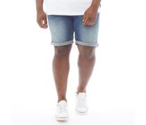 Übergröße Denim Shorts Verblasstes Mittel