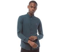 Kreo Hemd mit Button-Down Kragen Dunkelmeliert