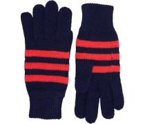 Streifen Handschuhe Navy