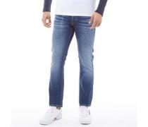 Clark Original JJ 185 Jeans mit geradem Bein Verblasstes Mittel