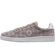 B721 Houndstooth Perf Wildleder Sneakers Silber