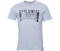 Herren Graphic Setin Neck T-Shirt Weiß