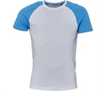 Mens Baptist Raglan T-Shirt Optic White/Sky Blue Marl