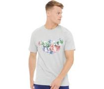 Mens Marcos T-Shirt Light Grey Marl