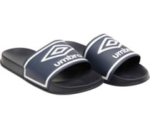 Mens Beach Pool Sliders Dark Navy/White