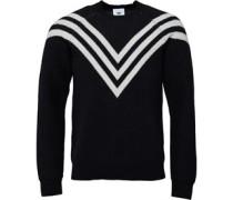 x White Mountaineering Mens 3 Stripe Sweater Black