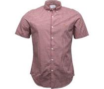Mens Moraes Slim Fit Short Sleeve Shirt Currant