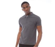 Mini Streifen Polohemd Schwarz