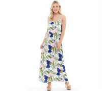 Womens Nova Strap Maxi Dress Cloud Dancer/Blooming Flower