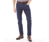 Stretch Jeans mit geradem Bein Dunkelindigo