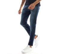 Moriarty Lak Jeans in Slim Passform Dunkel Denim