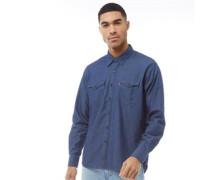 Modern Barstow Western Hemd mit langem Arm Dunkelindigo