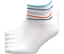 Vaxon Fünf Pack Sneaker Socken Weiß