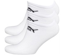 Mens 3 Pack No Show Socks Weiß