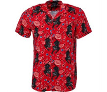 Mens Panther Short Sleeve Shirt Red
