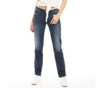 Sandy Jeans mit geradem Bein Verblasstes Dunkel